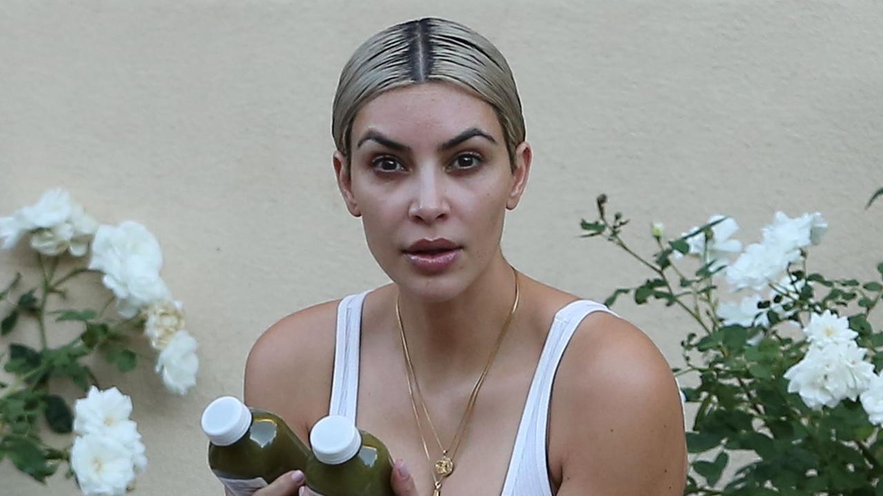 Kim Kardashian Goes Makeup Free During Beverly Hills Workout - Kim-k-without-makeup