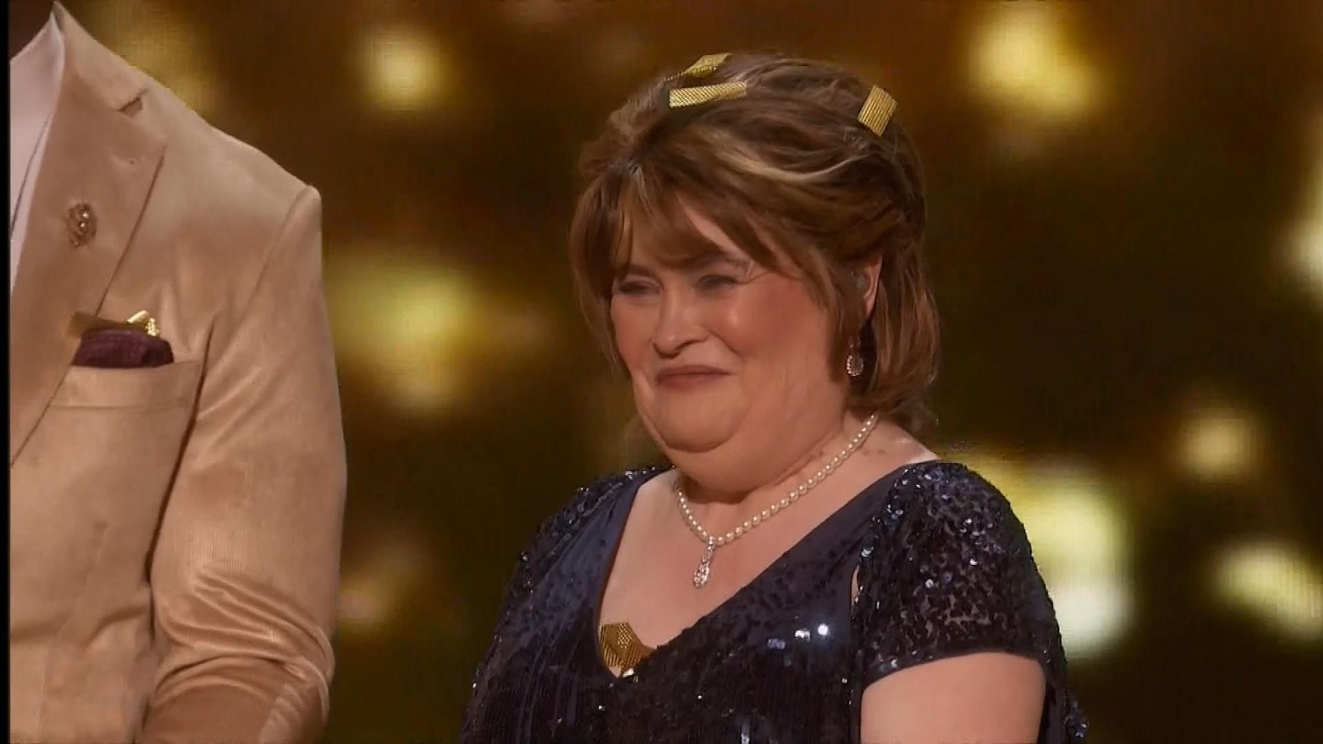 Susan Boyle Brought to Tears After Earning 'AGT: The Champions' Golden  Buzzer (Exclusive)