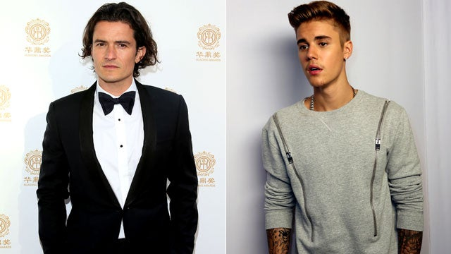 Orlando bloom takes a swing at justin bieber in ibiza orlando bloom takes a swing at justin bieber in ibiza entertainment tonight m4hsunfo