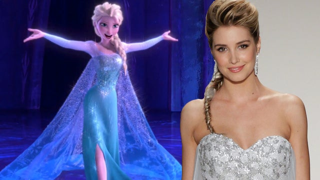 Here S What The Frozen Wedding Dress Looks Like In Real Life Entertainment Tonight