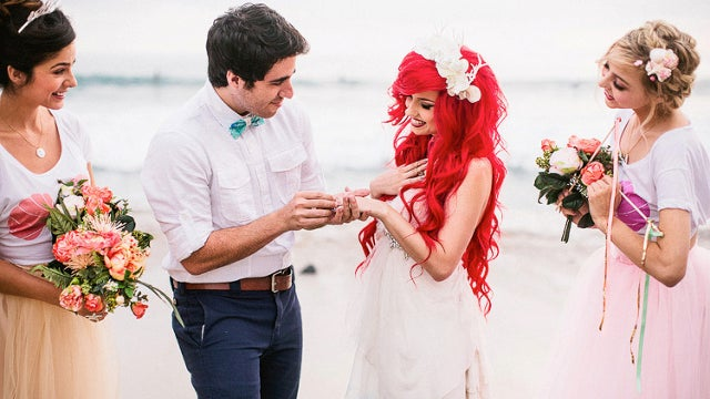 This Is The Most Extravagant Little Mermaid Themed Wedding Ever Entertainment Tonight