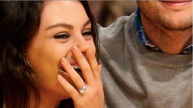 Mila Kunis Engagement Ring 2014