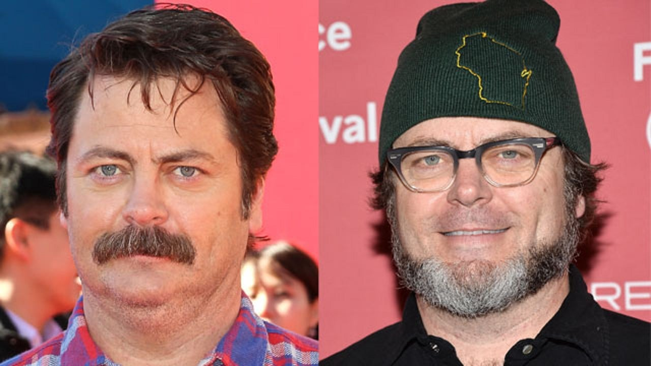 Nick Offerman Is Barely Recognizable Without His Mustache