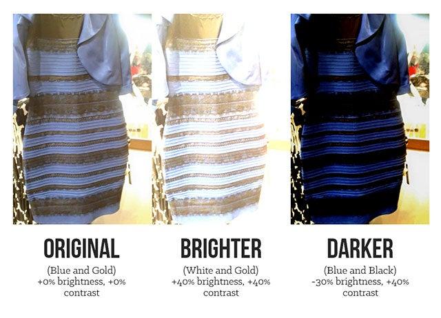 Black or white dress debate images