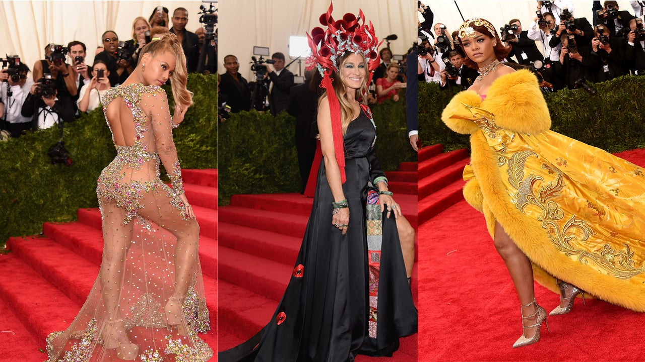 Beyonce Shows Serious Skin in Racy See-Through Gown at 2015 Met Gala ...