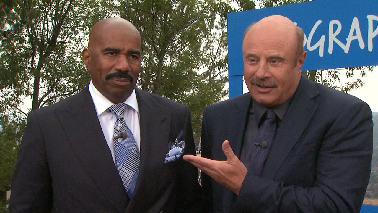 Dr. Phil and Steve Harvey Face Off in 'Clash of the Talk Show Titans' |  Entertainment Tonight