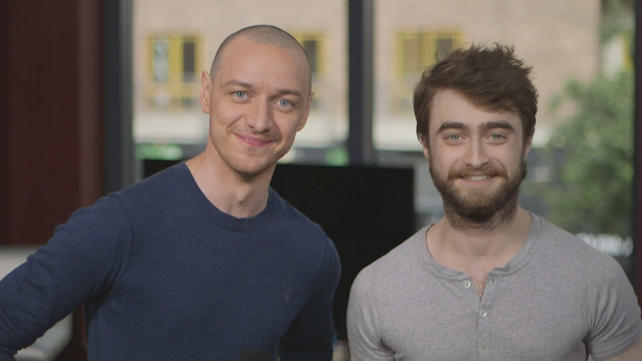 Daniel radcliffe and james mcavoy get seriously stressed out about daniel radcliffe and james mcavoy get seriously stressed out about hair extensions entertainment tonight pmusecretfo Choice Image