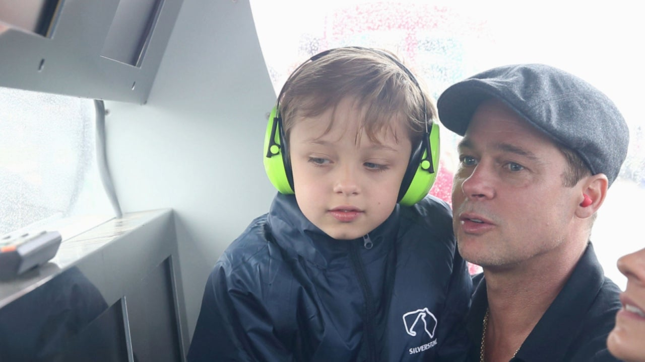 Brad Pitt and His Lookalike Son Knox Show Up at MotoGP British Grand Prix Race in England ...