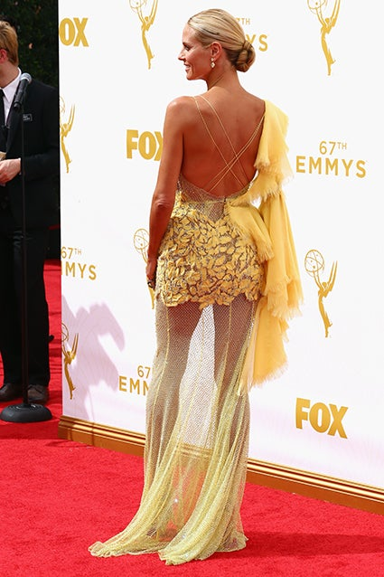 Heidi klum yellow dress