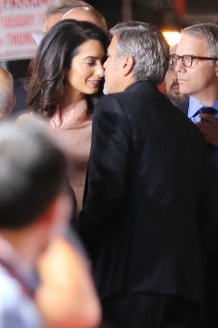 George and Amal Clooney Share a Kiss and Look So in Love ...