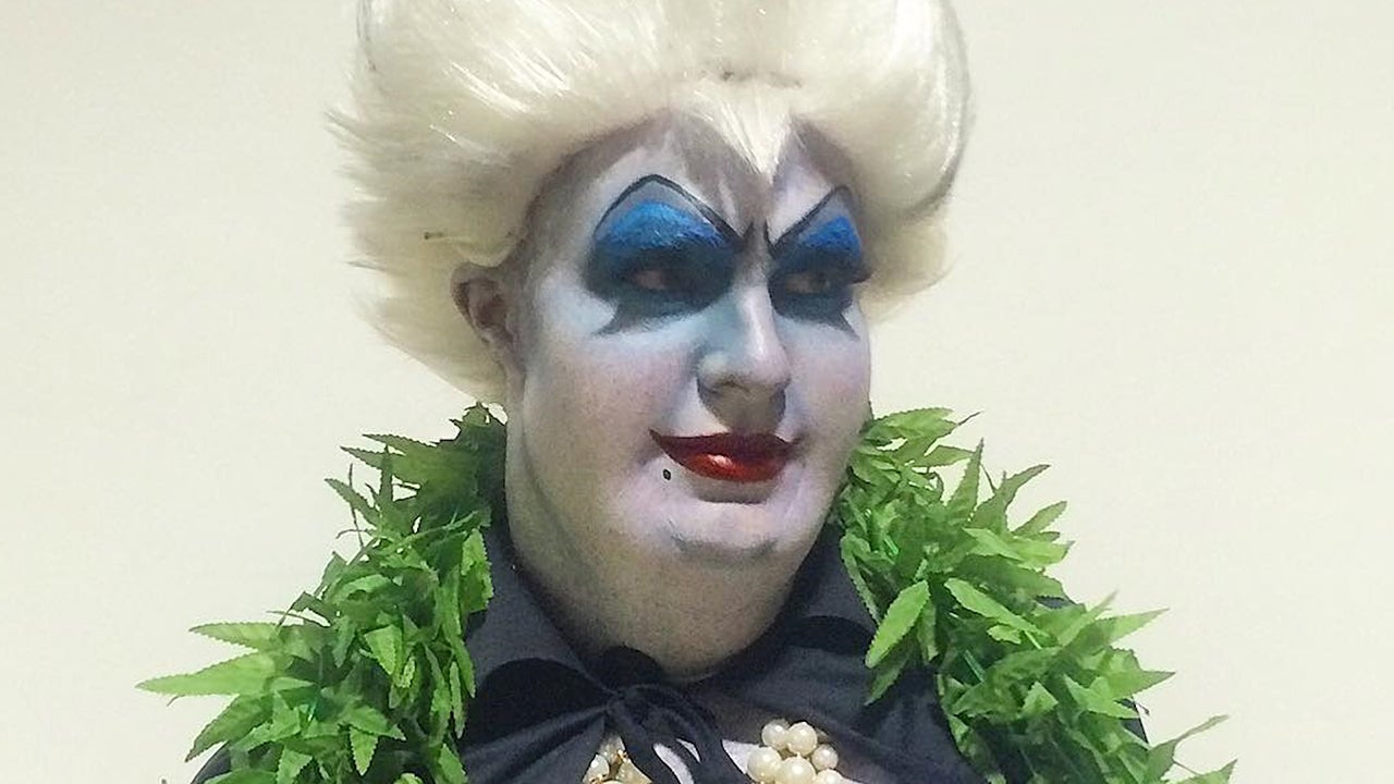 Colton Haynes Wins Halloween With Insanely Awesome Ursula Costume ...