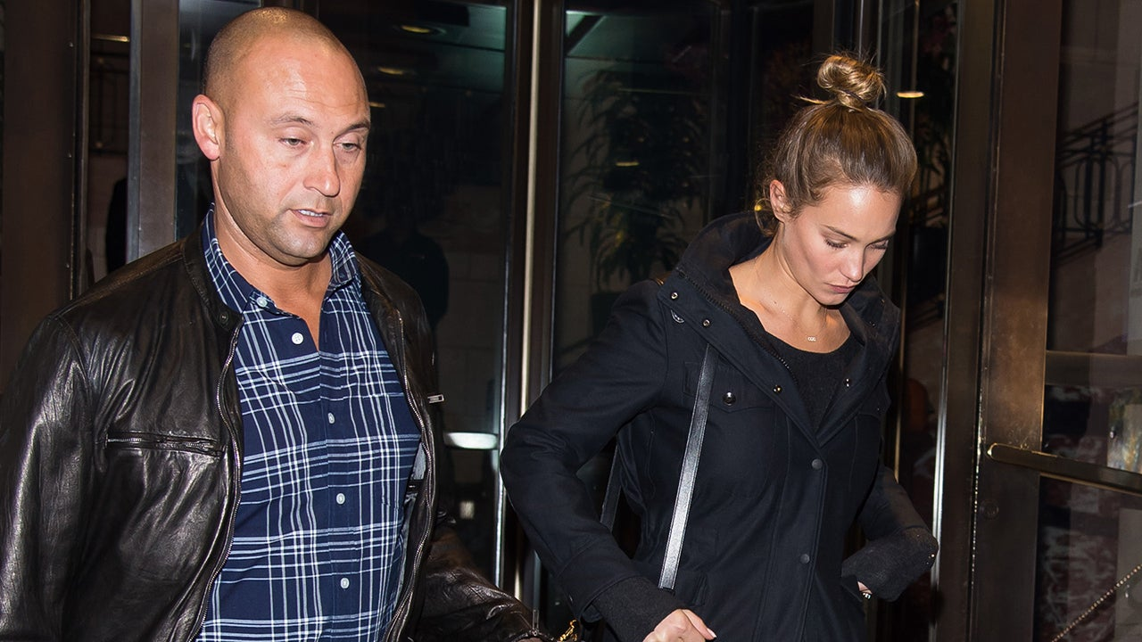 Derek Jeter s Fiancee Hannah Davis Shows Off Her Massive Engagement Ring --  See the Pics!  43614da605b
