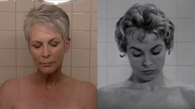 Jamie Lee Curtis Perfectly Recreated Her Mom S Infamous Psycho Shower Scene On Scream Queens Entertainment Tonight
