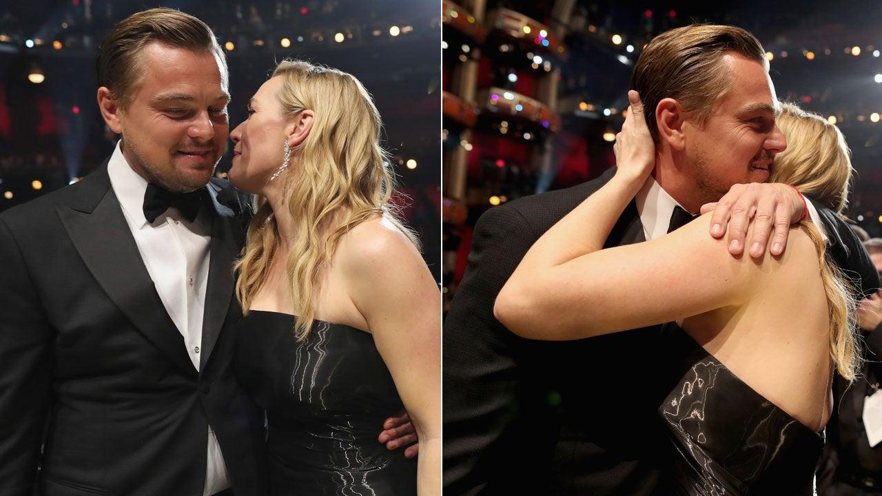 Kate Winslet s Tearful Reaction to Leonardo DiCaprio s Oscar Win