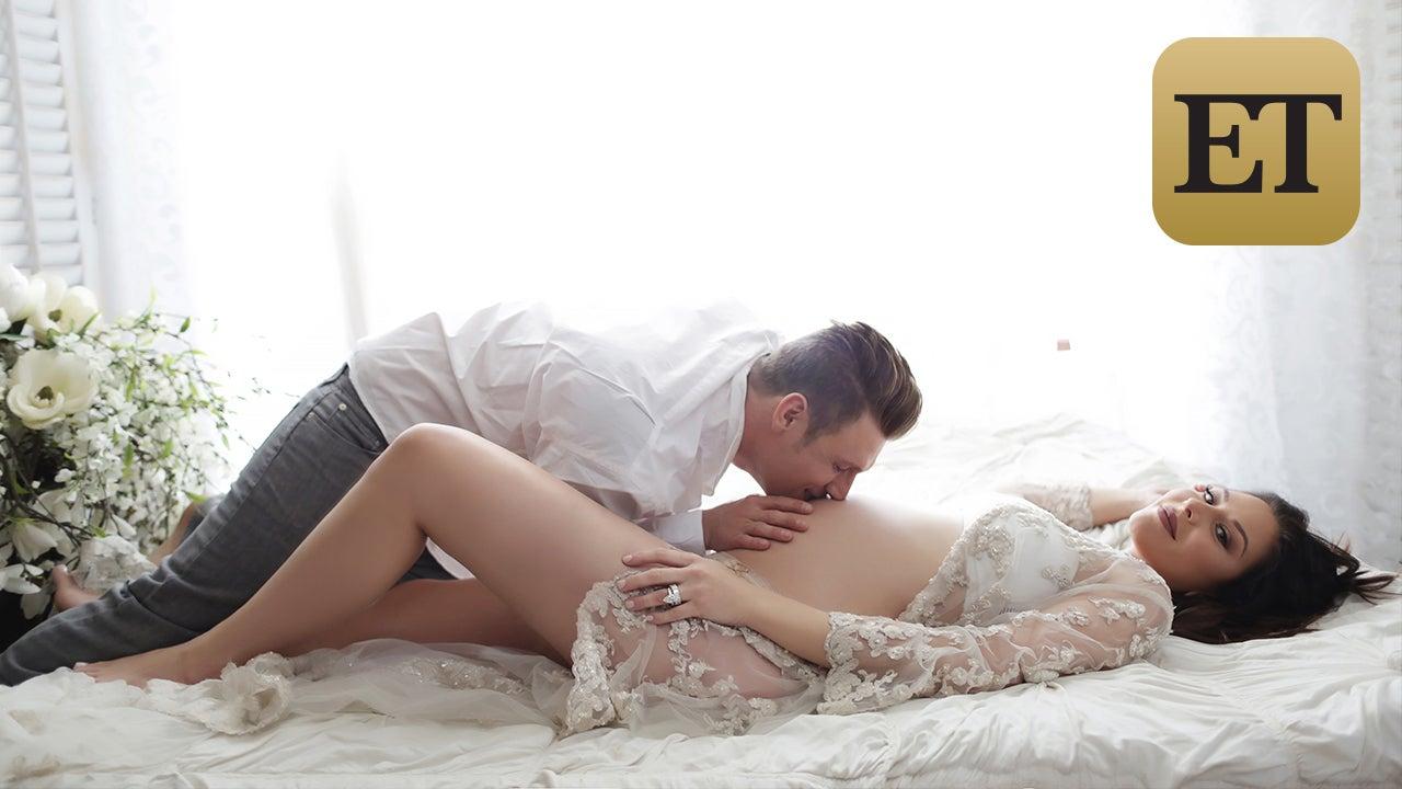 exclusive nick carter and wife lauren reveal pregnancy