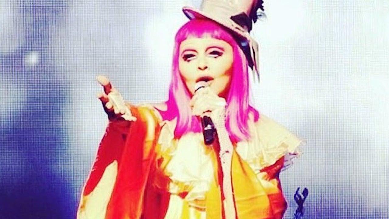 madonna dresses up as a sad clown dedicates emotional performance