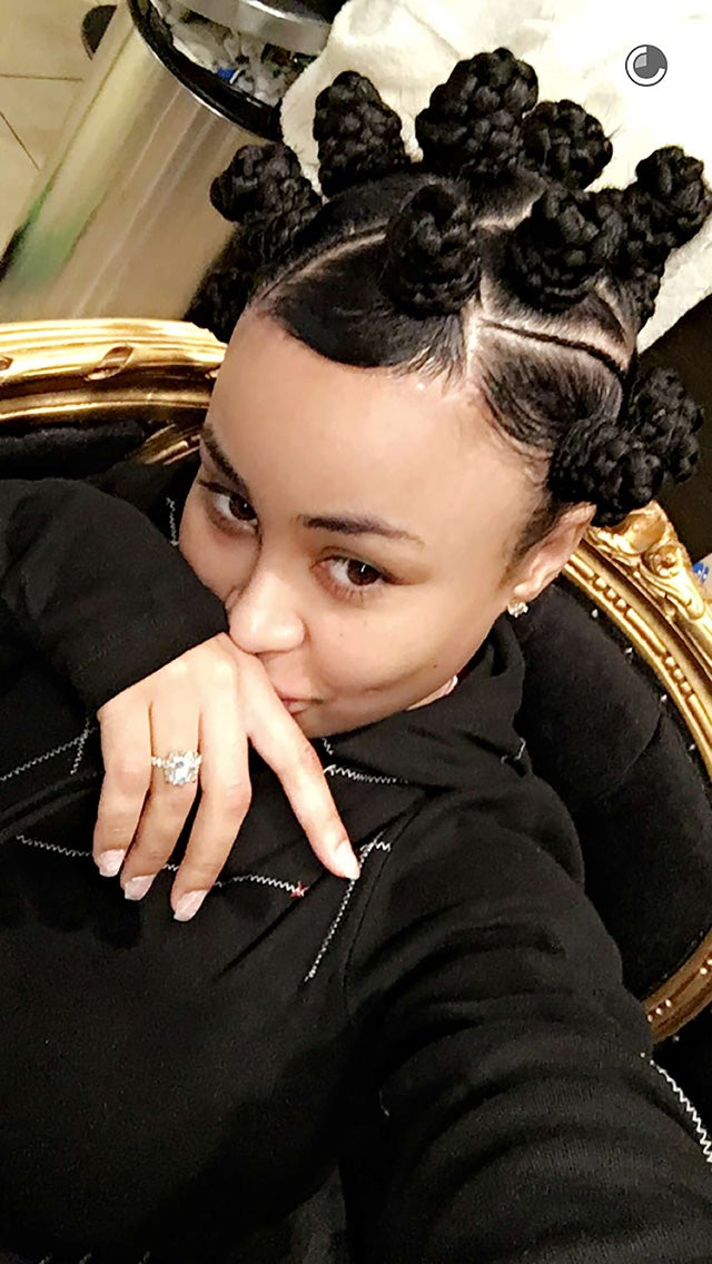 Photo: Snapchat. RELATED: Blac Chyna ... - Blac Chyna Debuts New Hairstyle, Continues To Train Rob Kardashian