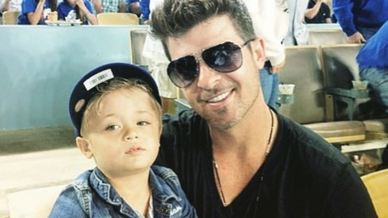Image result for robin thicke and son
