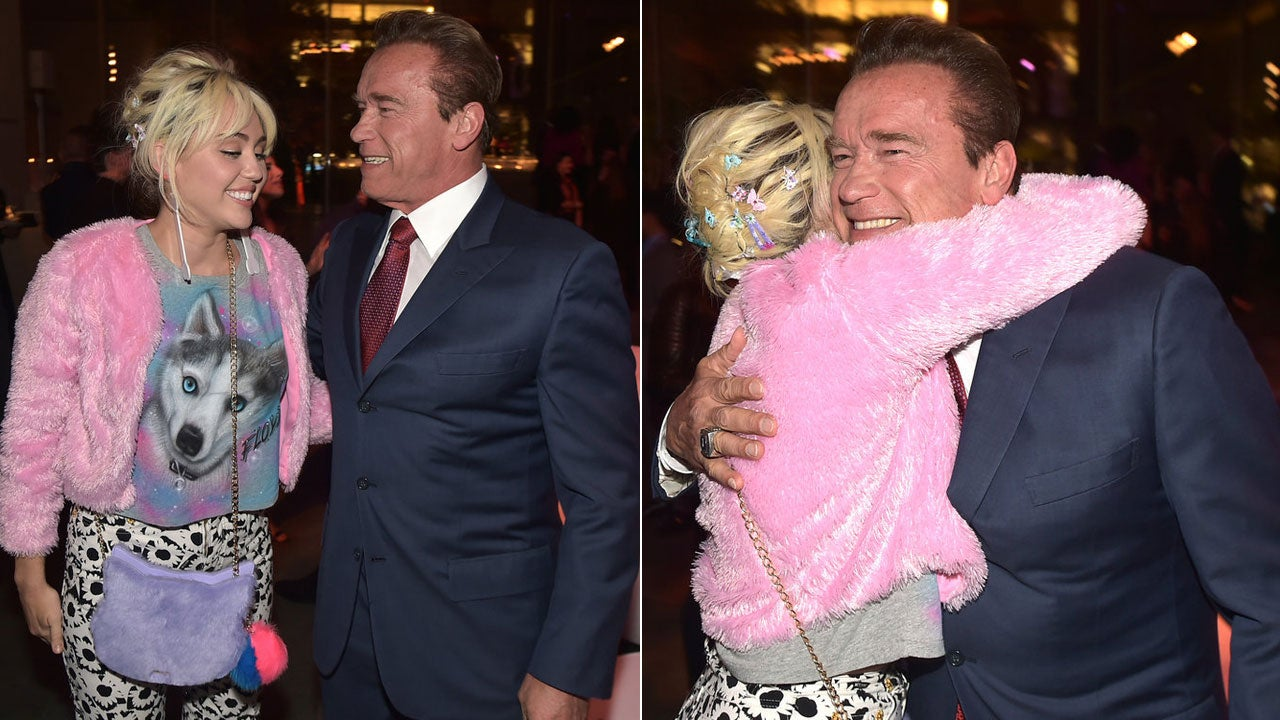Miley Cyrus Hangs With Her Ex-Boyfriend's Father Arnold ...