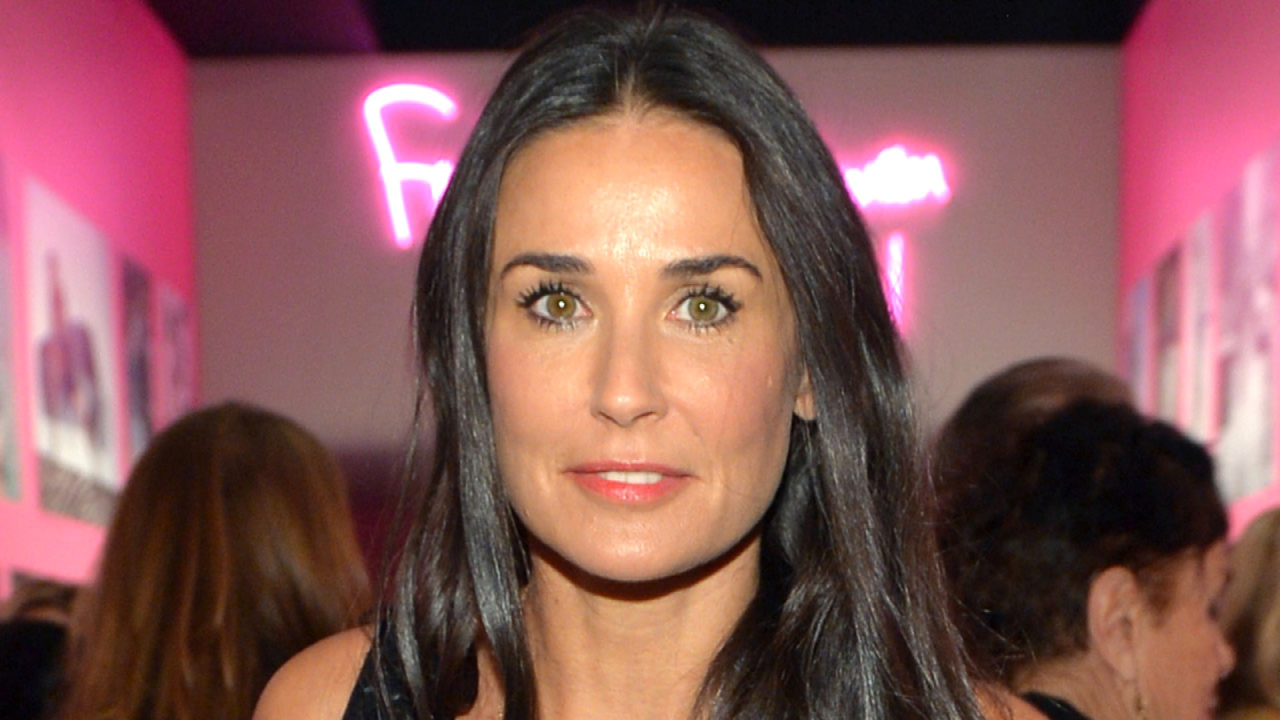 Demi Moore 53 Lets Her Gray Hair Grow Out As She Embraces