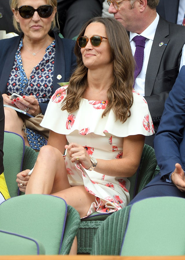 Pippa Middleton Flashes Lots of Leg at Wimbledon -- See ...