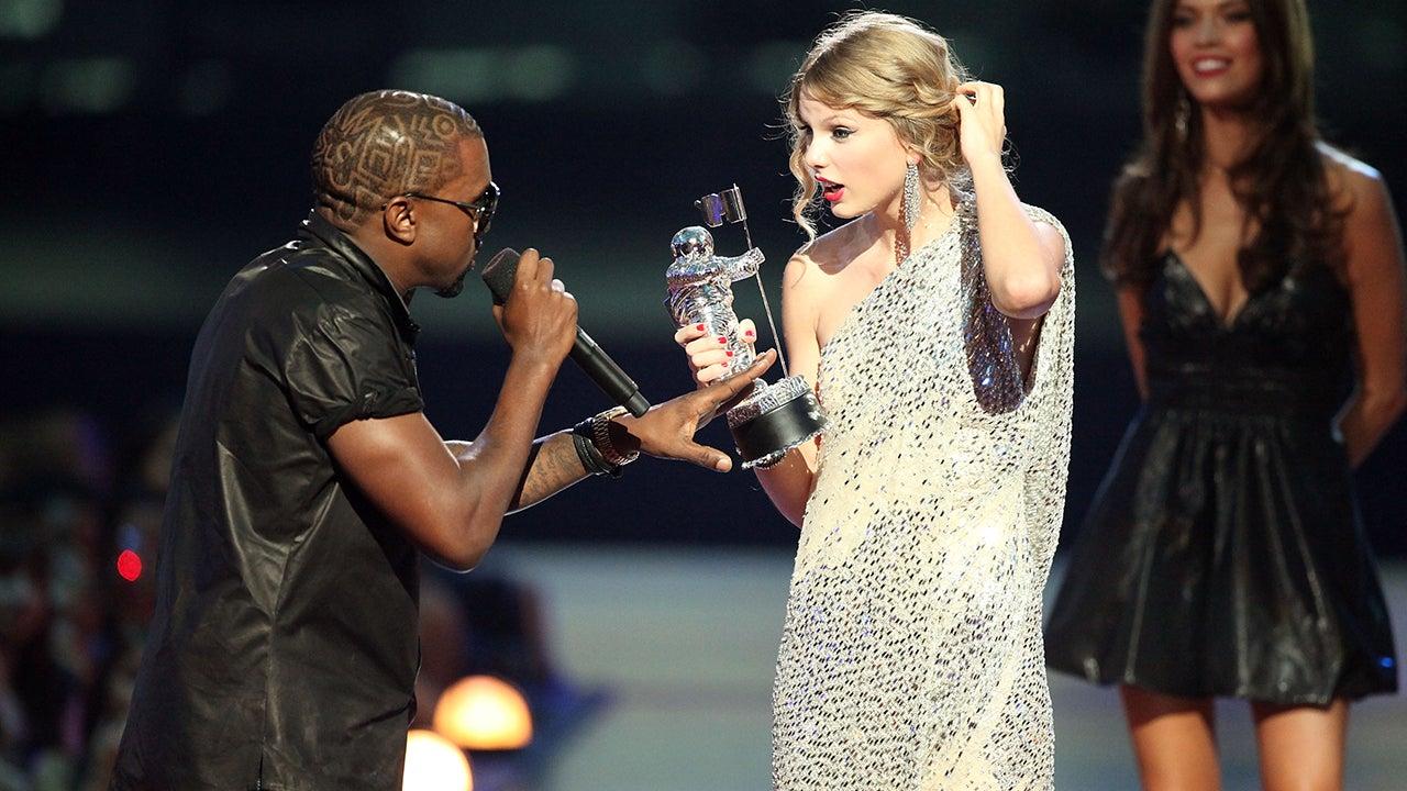 Kayne suprises Taylor Swift at the VMA
