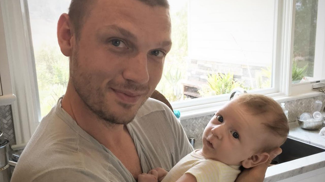 Nick Carter Takes Adorable Son Odin For A Walk As He Tries