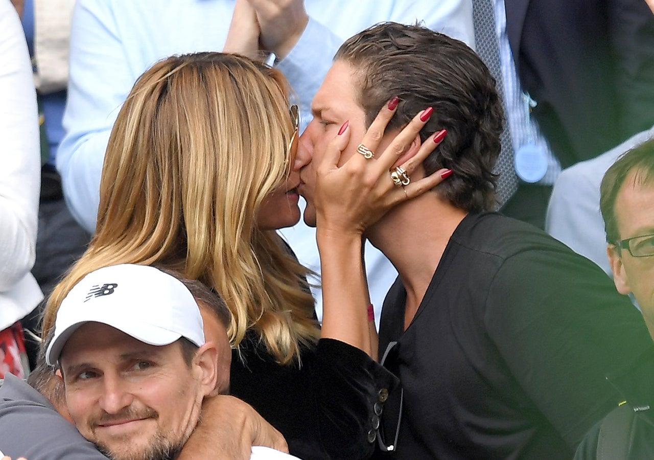 Vito Schnabel and Heidi Klum kissing