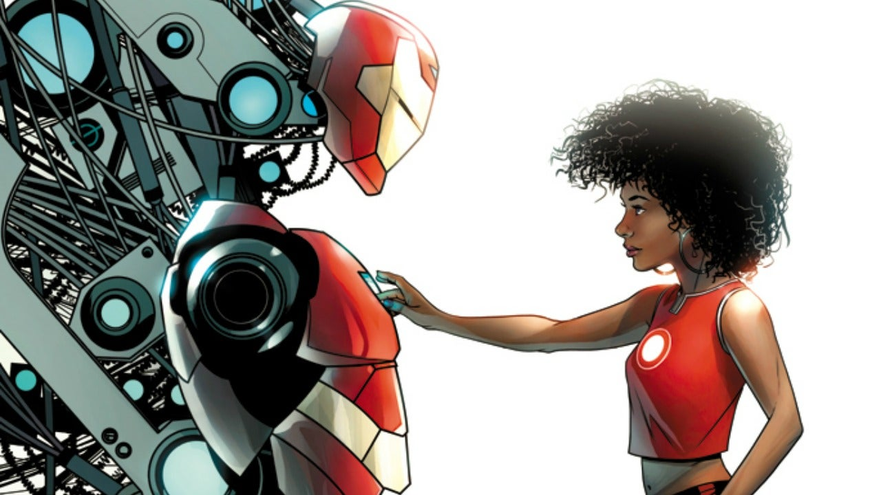 find out the new name of marvel u0027s black female iron man