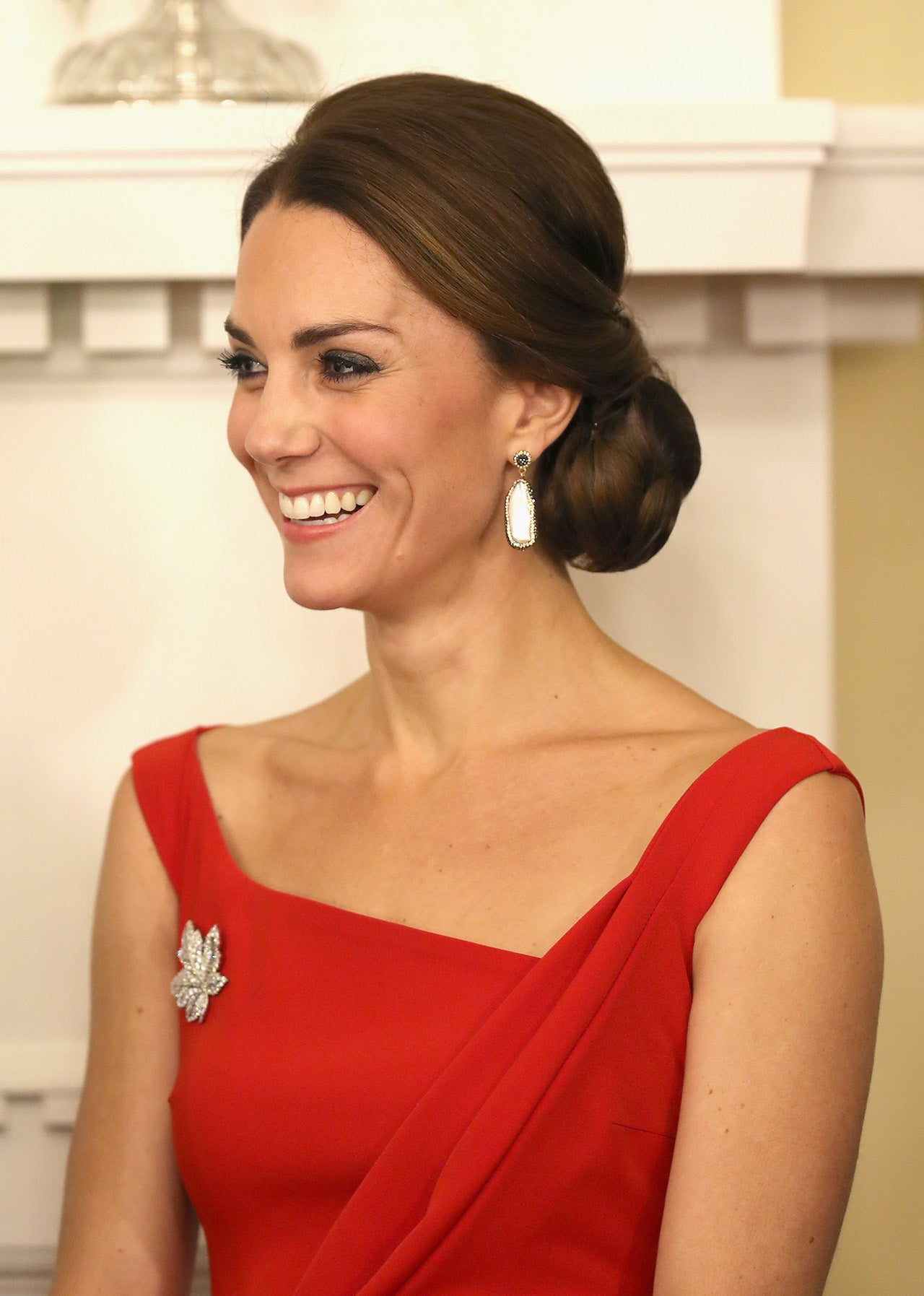 Kate Middleton Goes Red Hot For Formal Reception With
