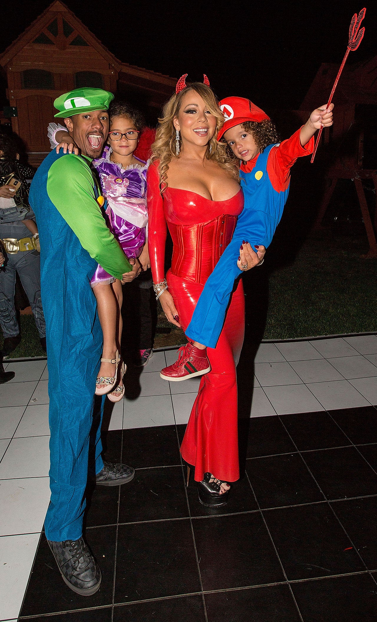 Mariah Carey Dresses Up as Sexy Devil for Annual Halloween Party ...