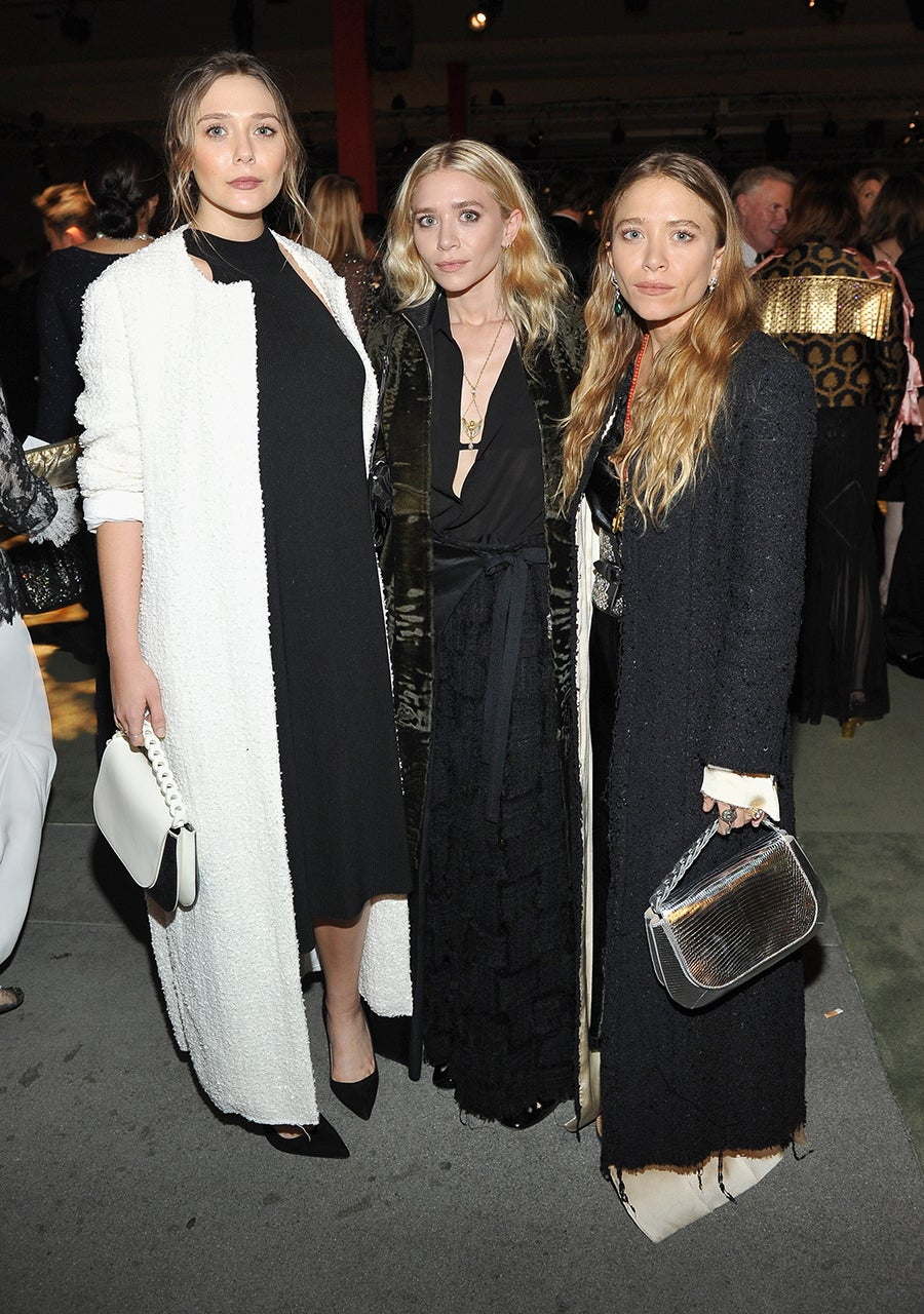Mary Kate And Ashley Olsen Reunite With Sister Elizabeth In Fierce Floor Length Outfits See