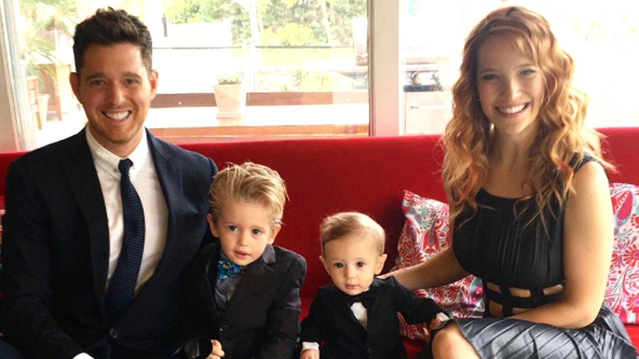 nam ca sĩ nổi tiếng Michael Bublé và gia đình