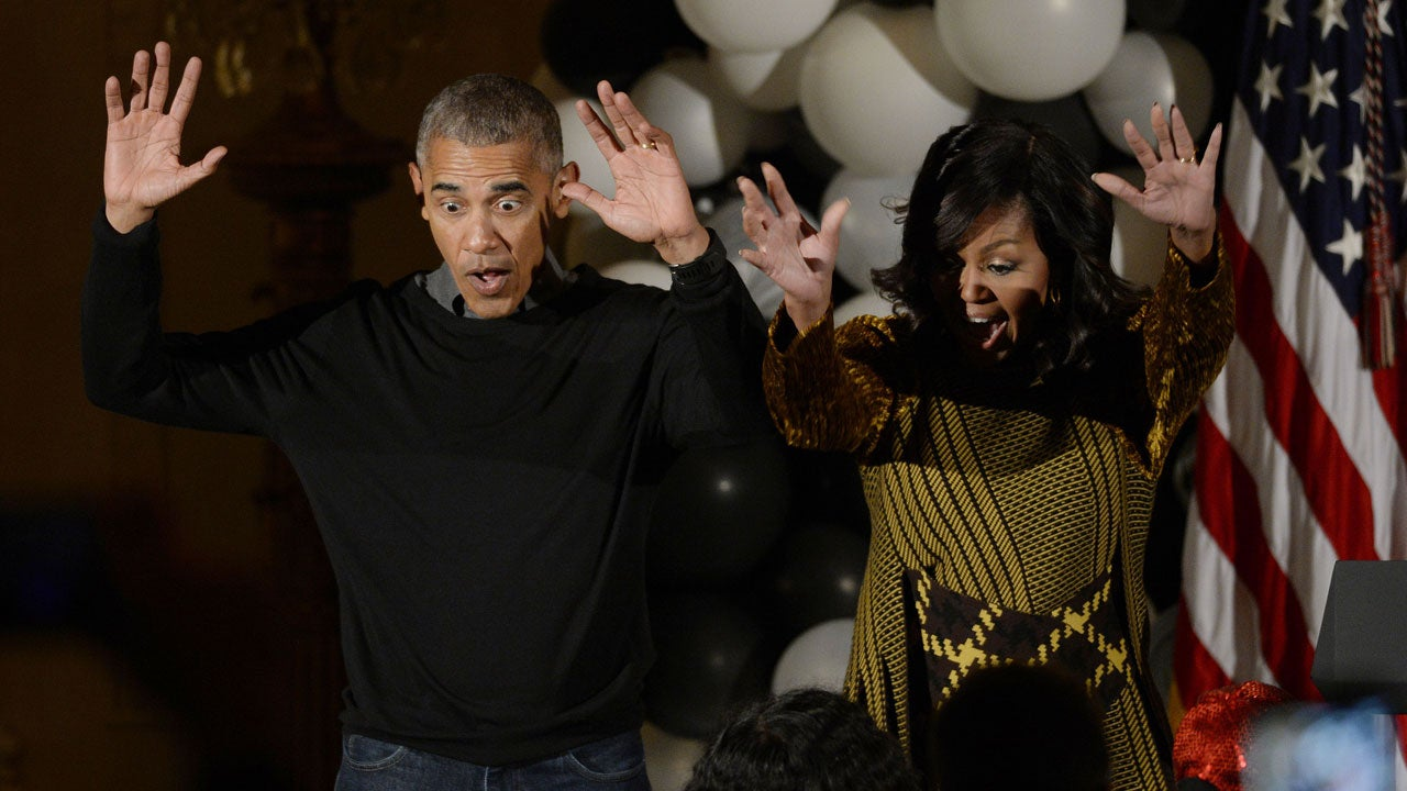 Barack And Michelle Obama Adorably Dance To U0027Thrilleru0027 At White House  Halloween Party