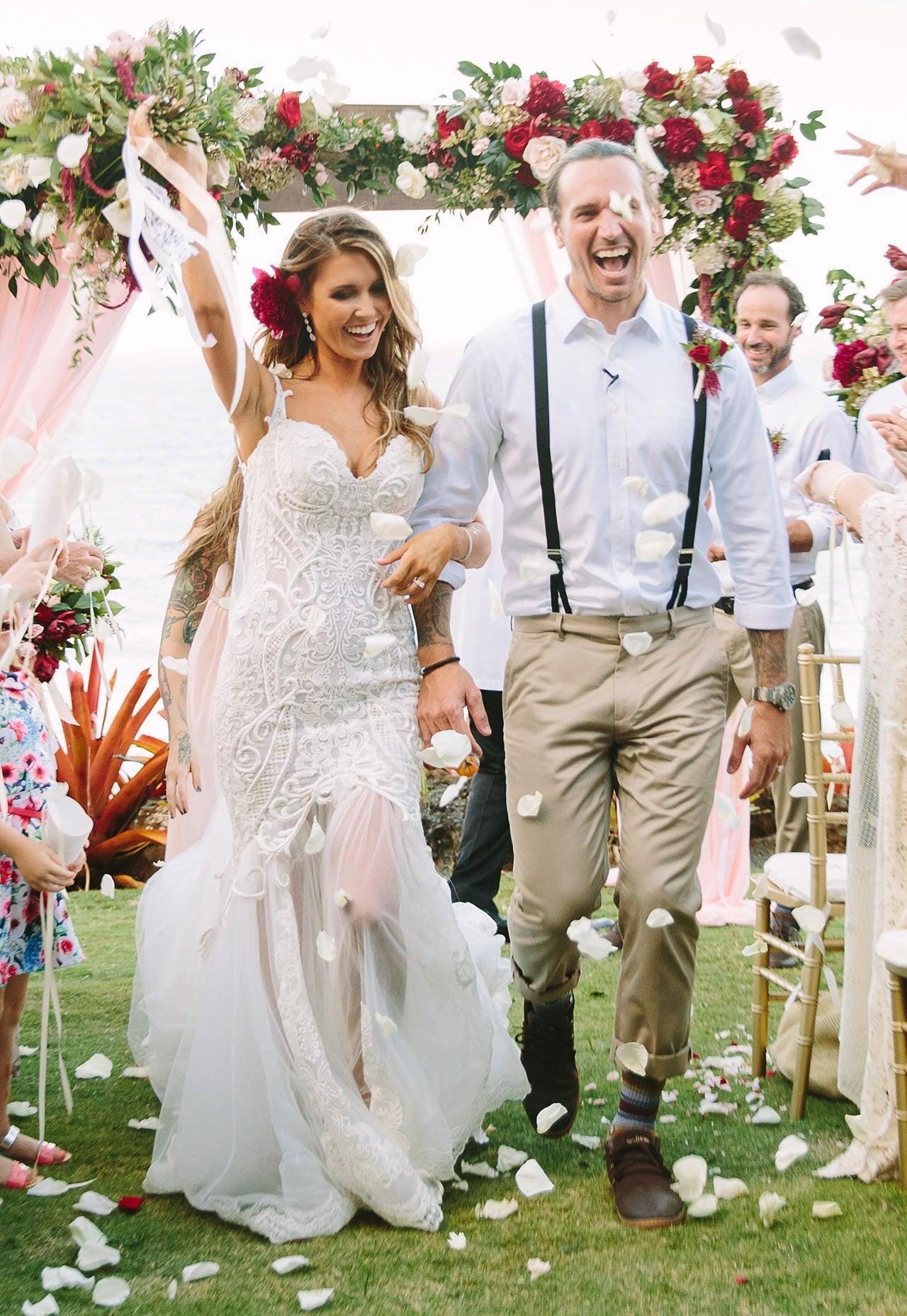 14 most gorgeous celeb wedding dresses of 2016 entertainment tonight 14 most gorgeous celeb wedding dresses of 2016 junglespirit Choice Image