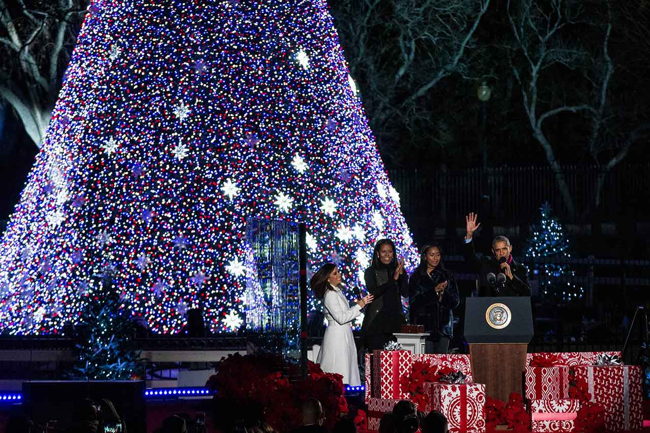 President Barack and Michelle Obama Attend Their Final National ...