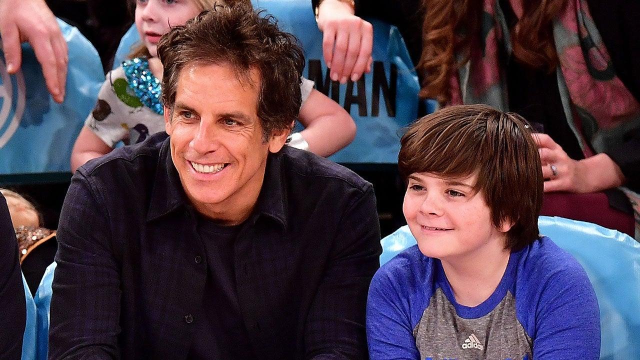 Ben Stiller Bonds With Adorable Son Quinlin at New York ...