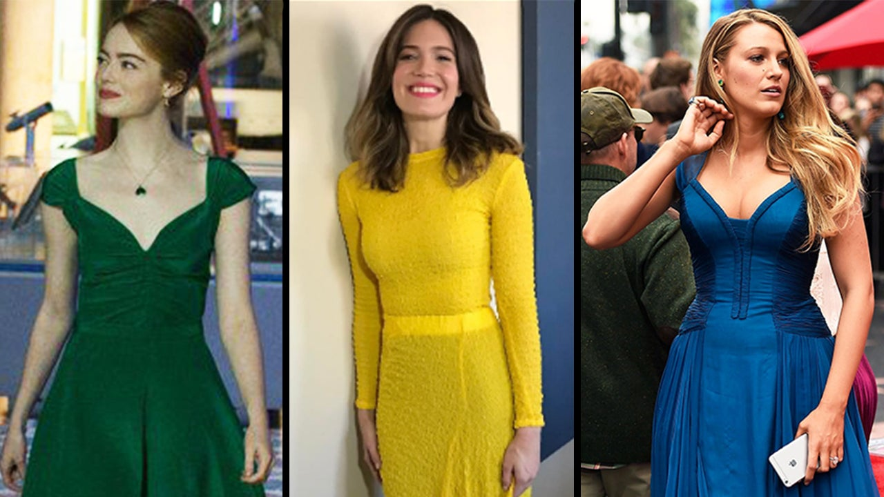 Blue yellow and green dresses