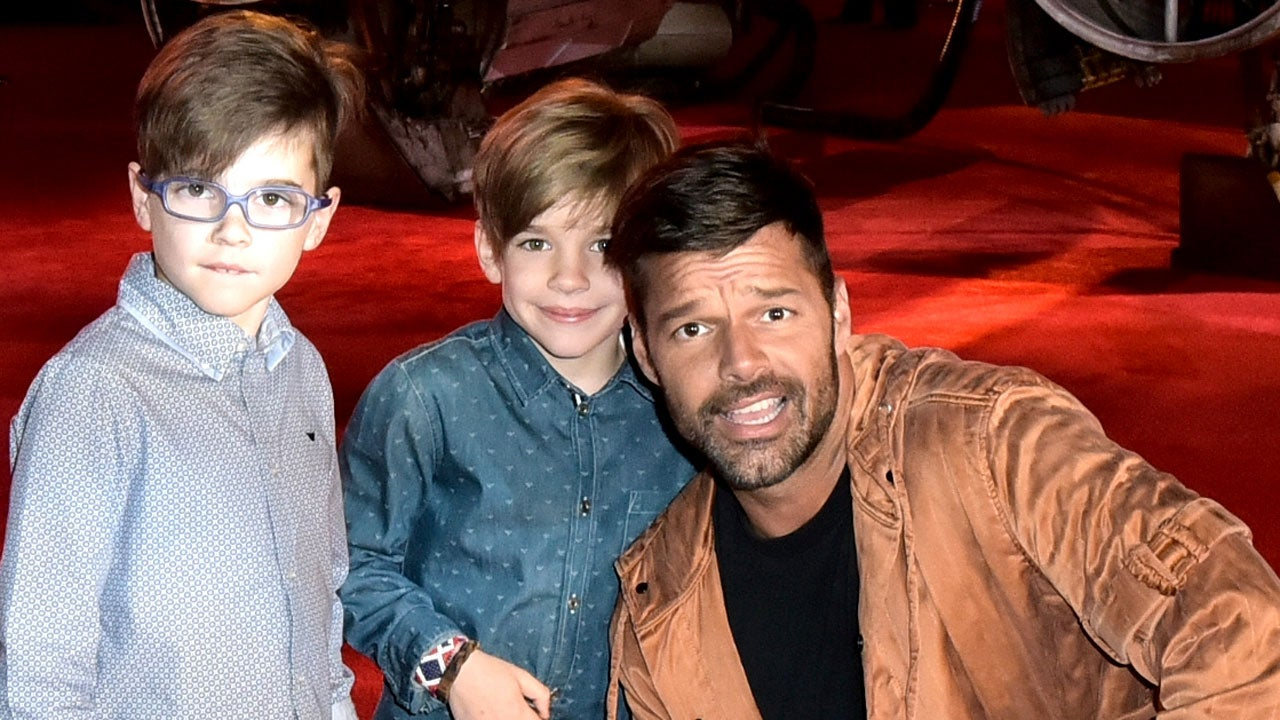 Amusing moment Ricky martin twin sons