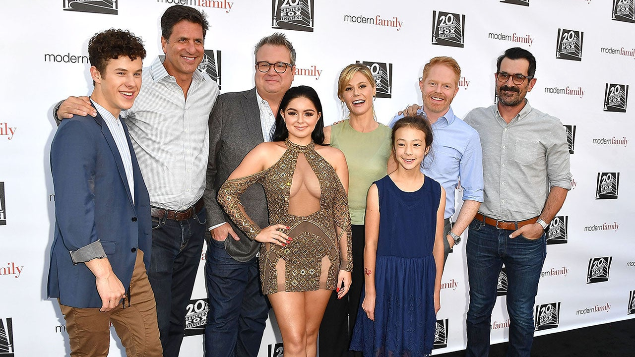 Ariel Winter Wears Cleavage Baring Dress For Casual Red
