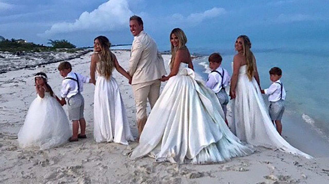 Kim Zolciak Renews Her Vows To Husband Kroy Biermann See Glam Wedding Dress