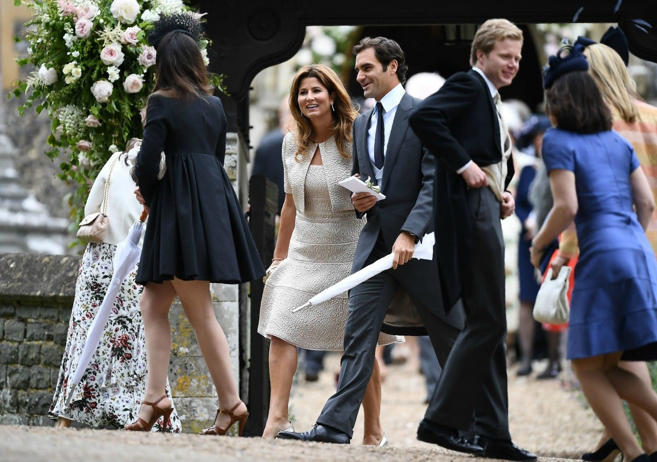 Roger Federer Attends Pippa Middletons Wedding With Wife Mirka