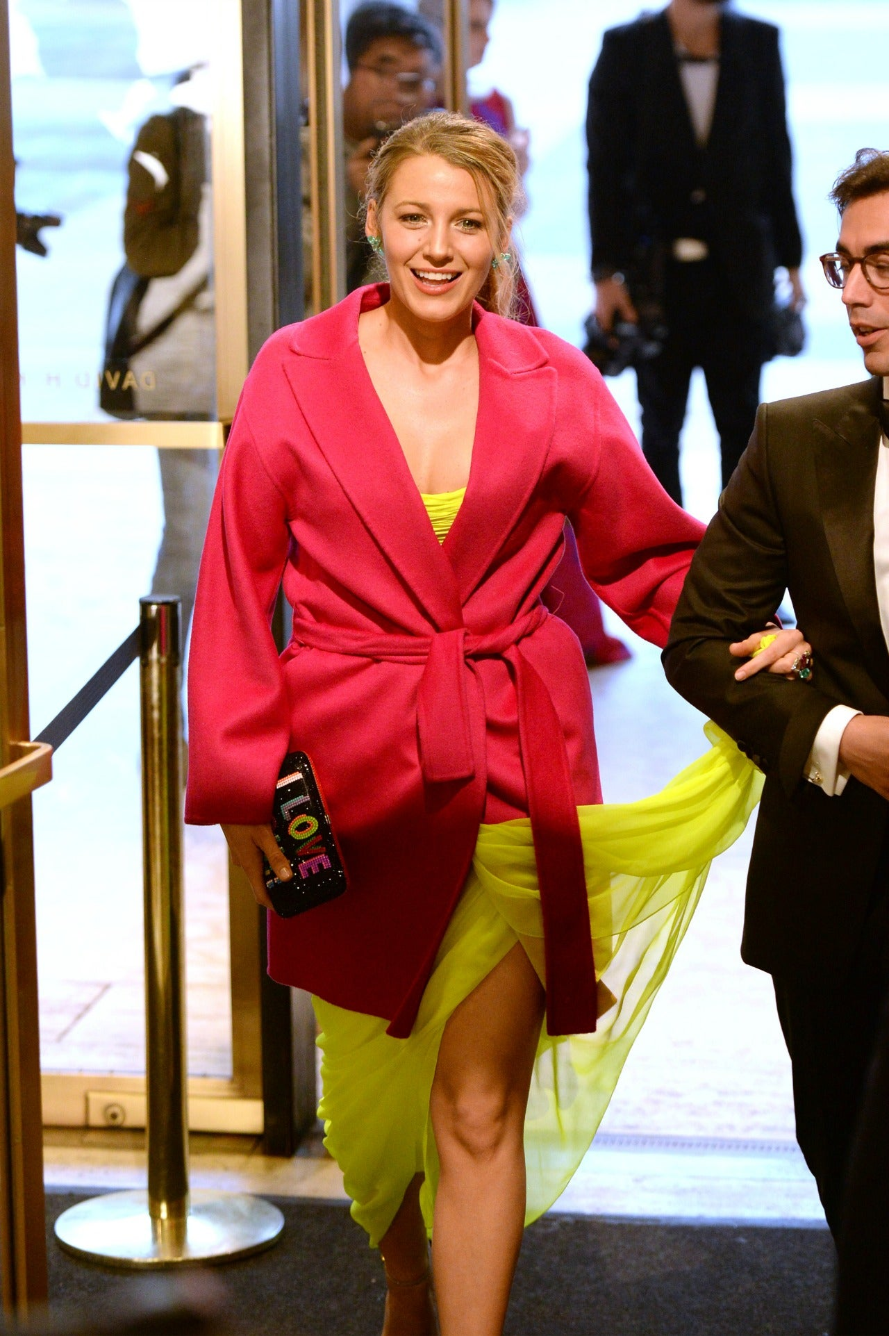 Blake Lively Is Lovely in Bright Yellow Strapless Gown at Ballet
