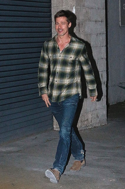 Brad Pitt Looks Rugged...