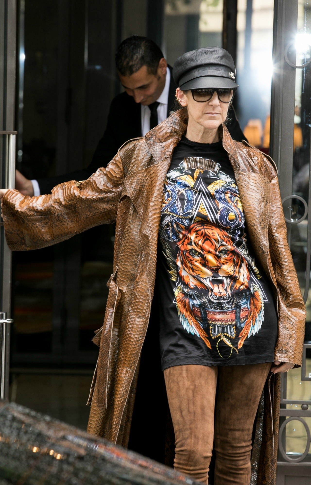 Celine Dion Rocks Thigh High Boots And No Pants In Paris