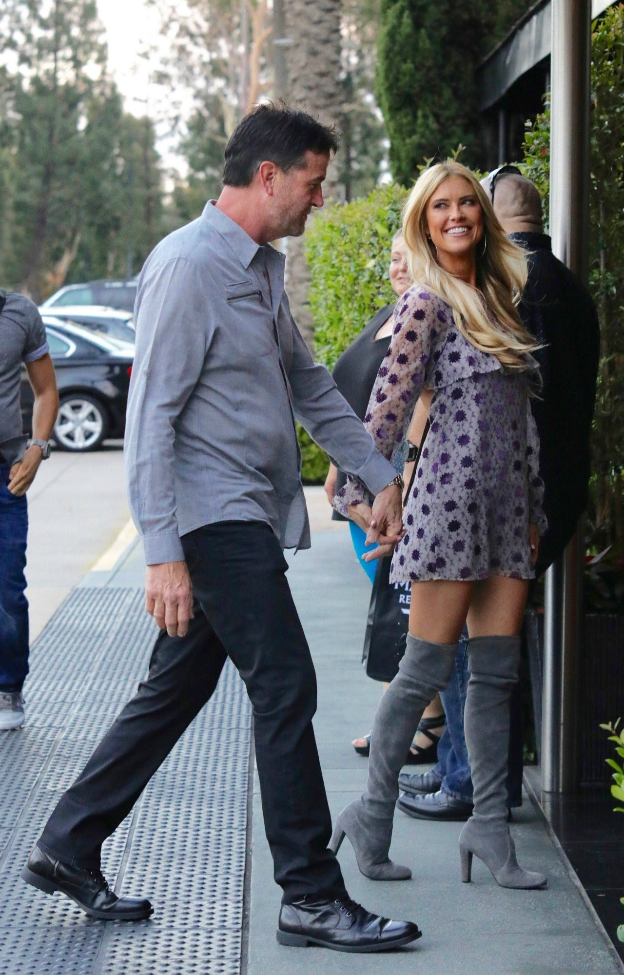 christina el moussa is all smiles while holding hands with new man