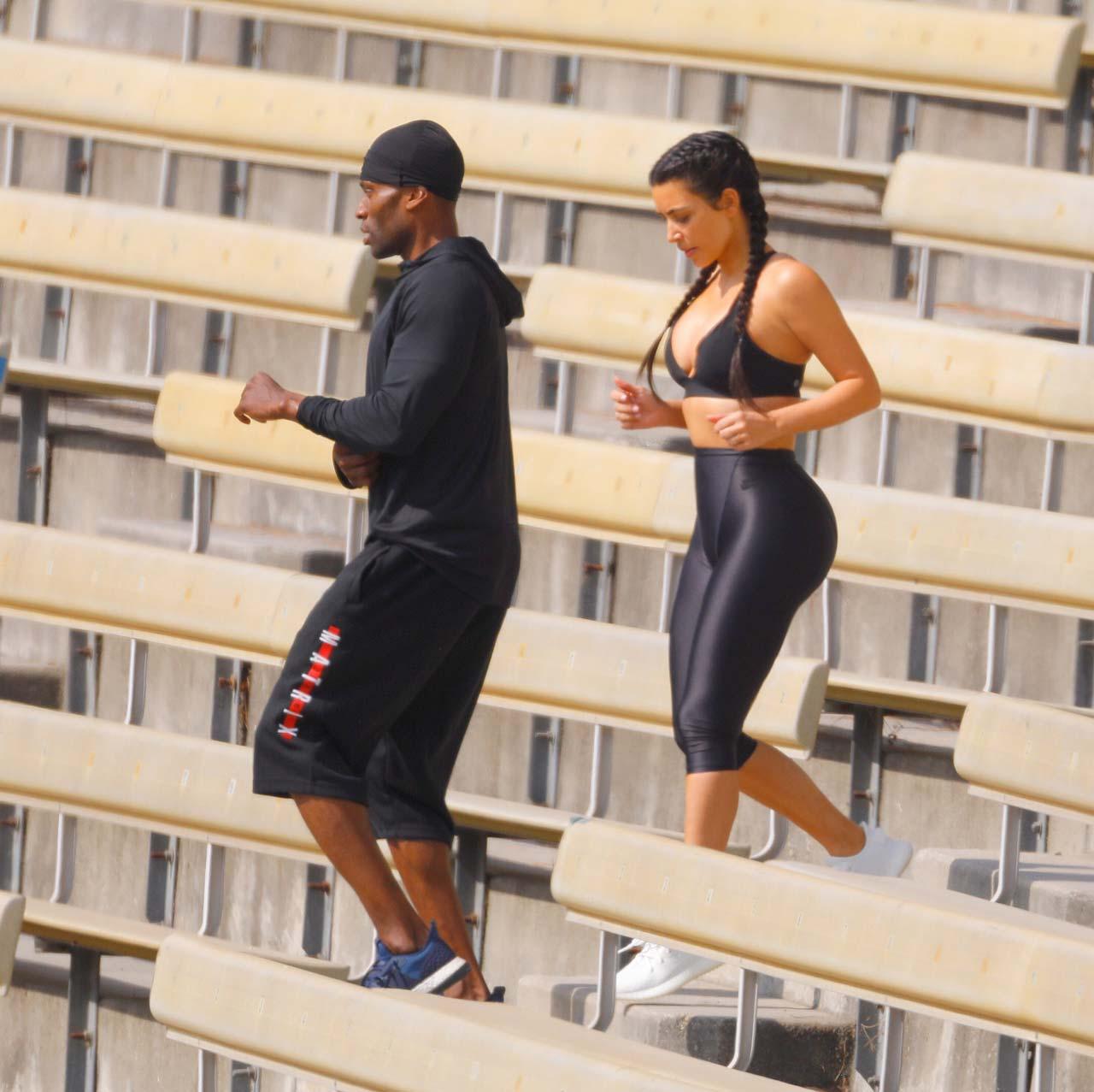 Kim Kardashian Sweats Her Way Through Intense Workout in ...