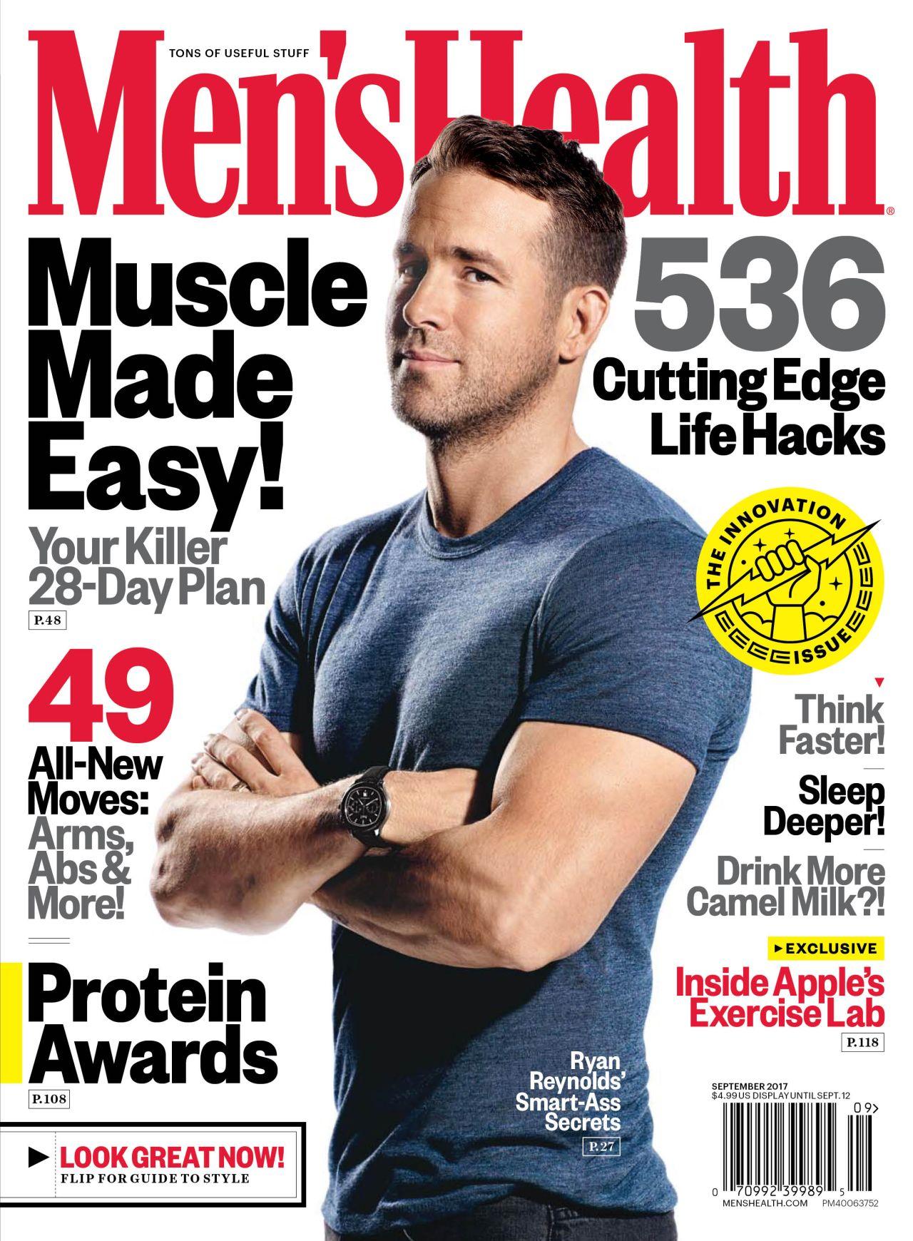 Mens Health Magazine President Barack Obama Instant Energy: Ryan Reynolds Covers 'Men's Health,' Jokes About His