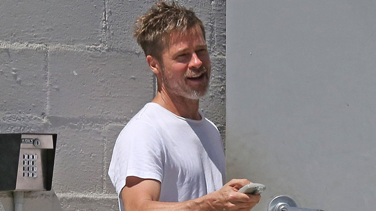 Brad Pitt Steps Out Bearded and Buff at His Art Studio in ...