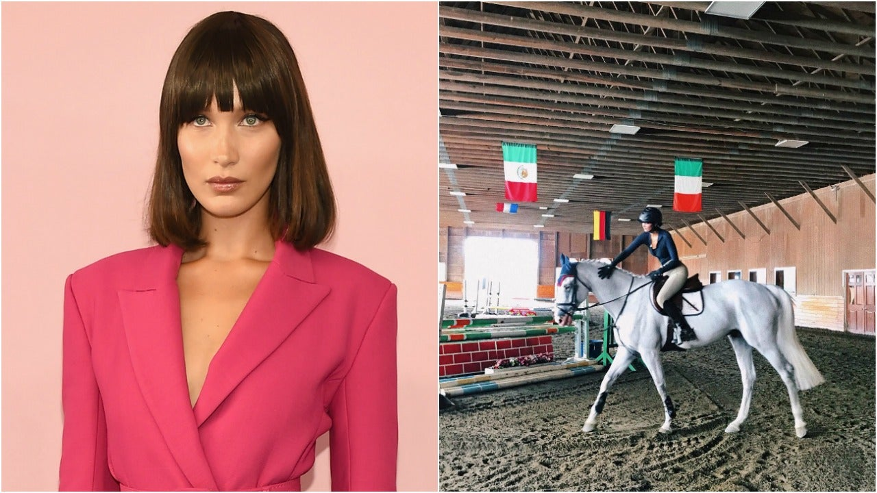 Bella Hadid Shares Horseback Riding Video My One And Greatest Passion Entertainment Tonight